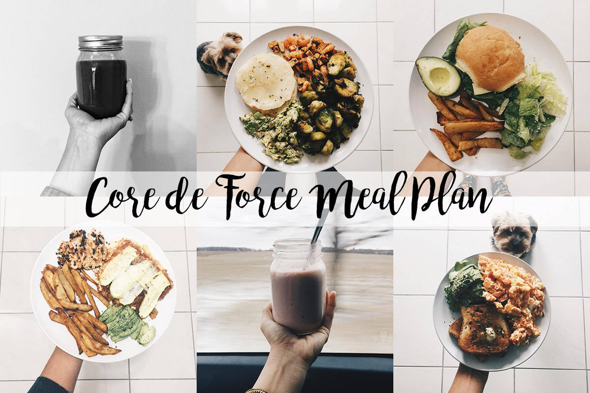 core de force meal plan